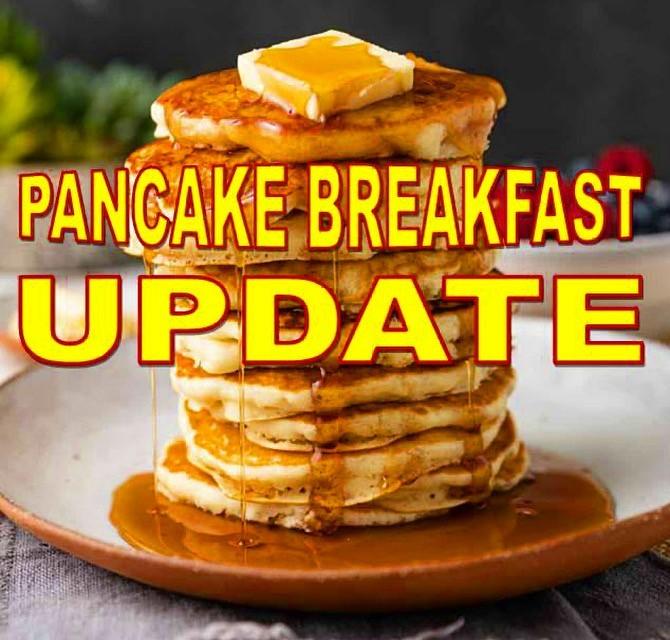 UPDATE: The October 2020 Pancake Breakfast has been CANCELED